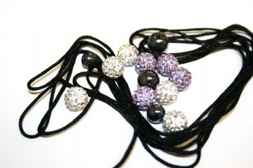 DIY Pave Crystal Bracelet Kit - Lilac / clear - SC